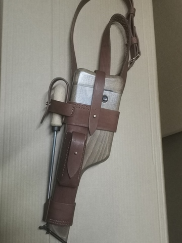 Wood holster for Mauser C96