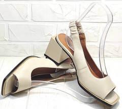 Элегантные босоножки на выпускной женские Brocoli H150-9137-2234 Cream.
