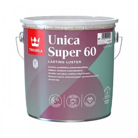Tikkurila Unica Super 60/Тиккурила Уника Супер износостойкий уретано-алкидный лак, полуглянцевый