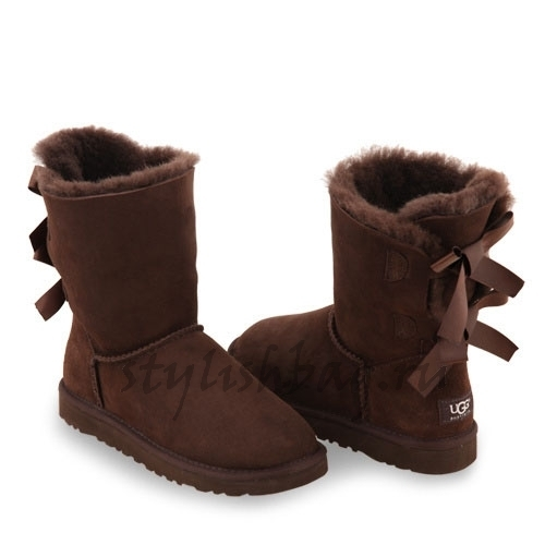 Женские угги UGG Bailey Bow Chocolate