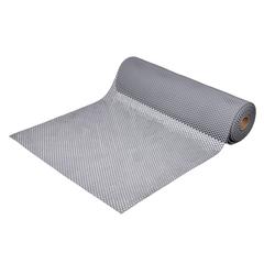 Коврик-дорожка против скольжения Шашки, серый, 4,5 мм, 0,9*10 м