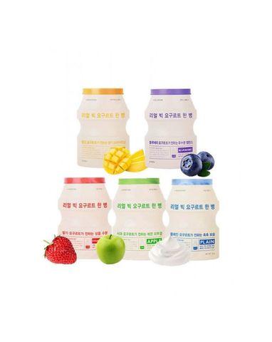 АП Маска для лица тканевая йогуртная A'PIEU Real Big Yogurt One Bottle(Straw Berry)