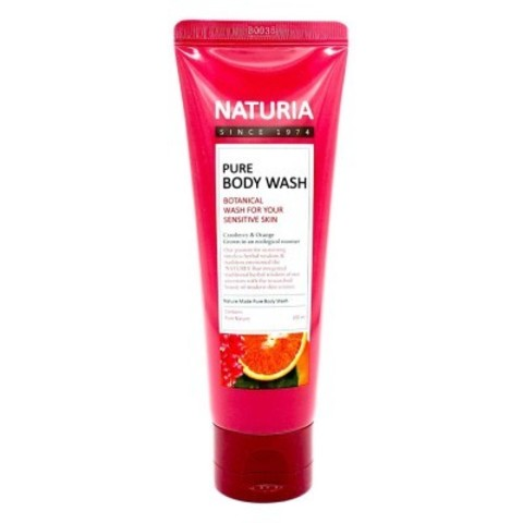 Гель для душа с апельсином, клюквой и зеленым яблоком Evas Naturia Pure Body Wash Cranberry & Orange 100ml