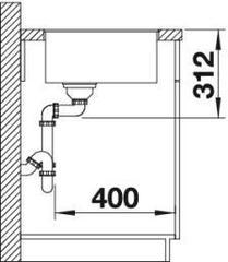 Мойка Blanco Subline 500-F схема
