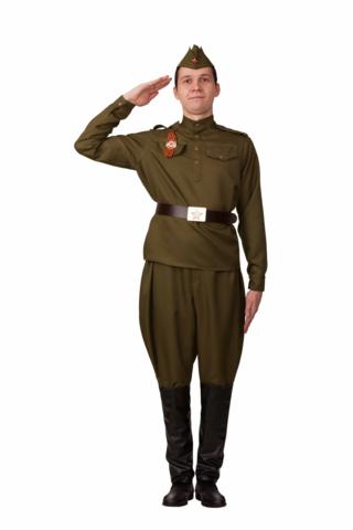 Военная форма взрослая Солдат в галифе (хлопок)