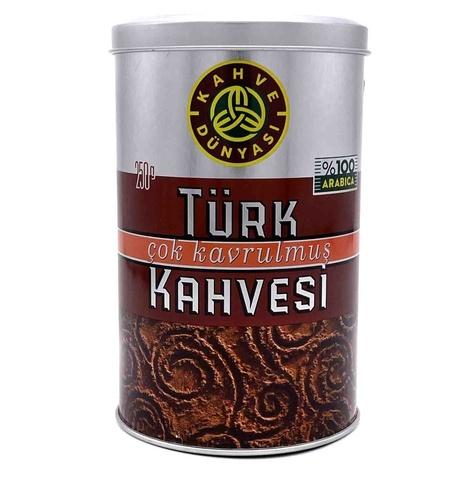 Турецкий кофе молотый темной обжарки, Kahve Dunyasi, 250 г