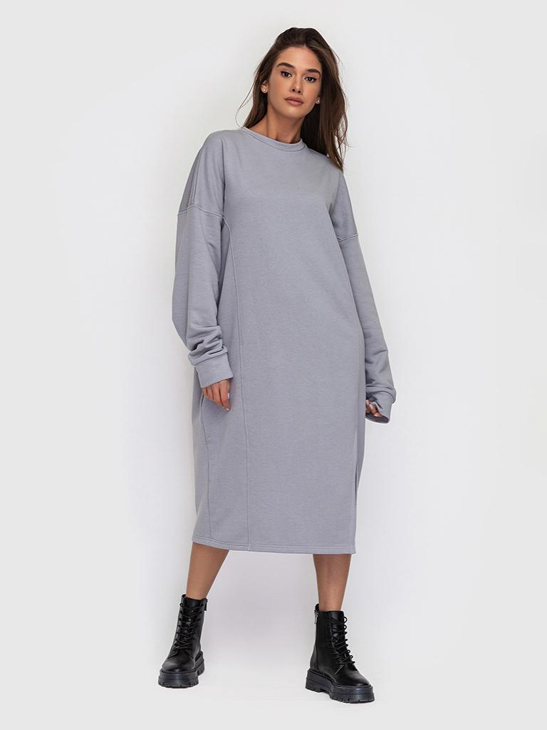 Платье трикотажное серое YOS