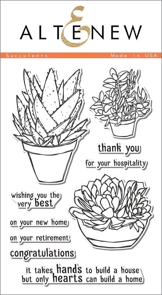 Набор штампов  НОЖЕЙ Succulents