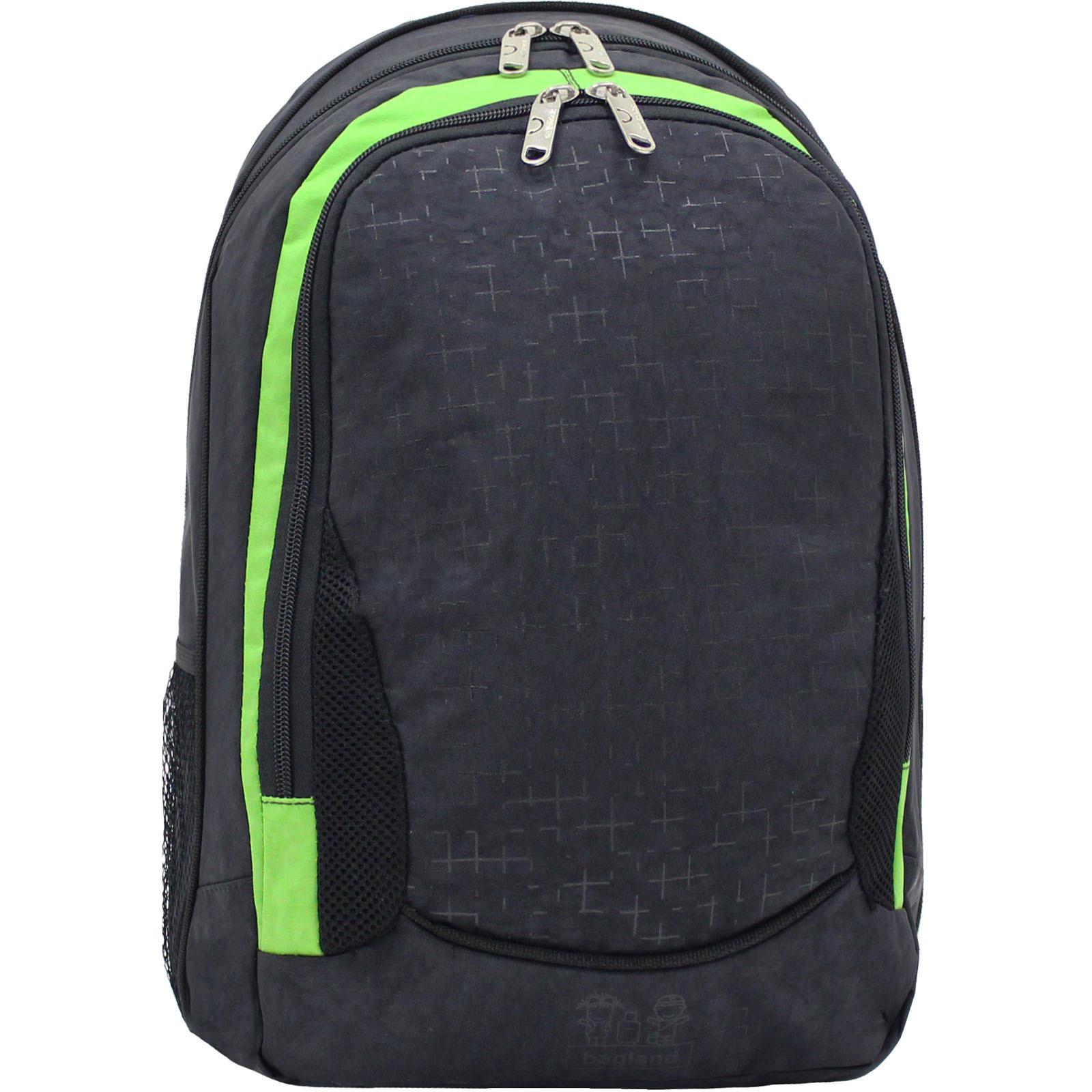 Городские рюкзаки Рюкзак Bagland Ураган 20 л. черный/салат (0057470) IMG_1299.JPG