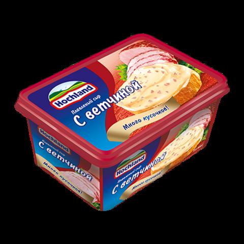 """Сыр плавленный """"Hochland"""" с ветчиной 400г"""