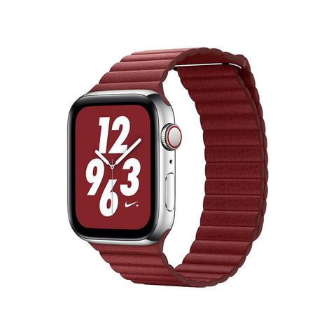 Ремешок кожаный COTEetCI W7 Leather Magnet Band (WH5206-RD) для Apple Watch 44мм/ 42мм Красный