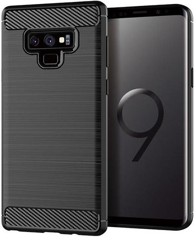 Чехол для Samsung Galaxy Note 9 цвет Black (черный), серия Carbon от Caseport
