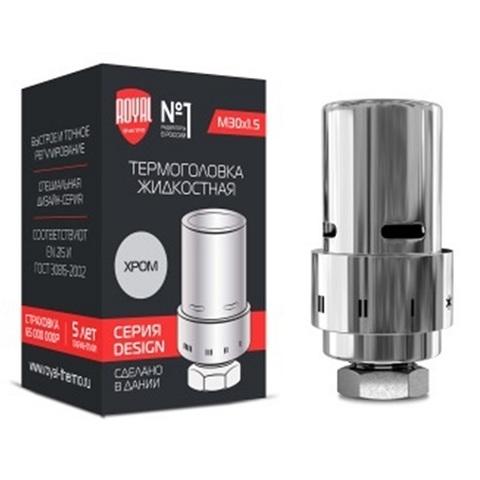 Royal Thermo Design термоголовка жидкостная M30 x 1,5 хром (RTE 07.0006M)