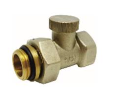 """Клапан обратного потока Ду15  Rp1/2""""-R1/2""""запорно-регулировочный для двухтрубной системы, прямой"""