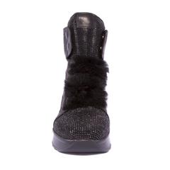 Кожаные ботинки Fruit 4138 со стразами