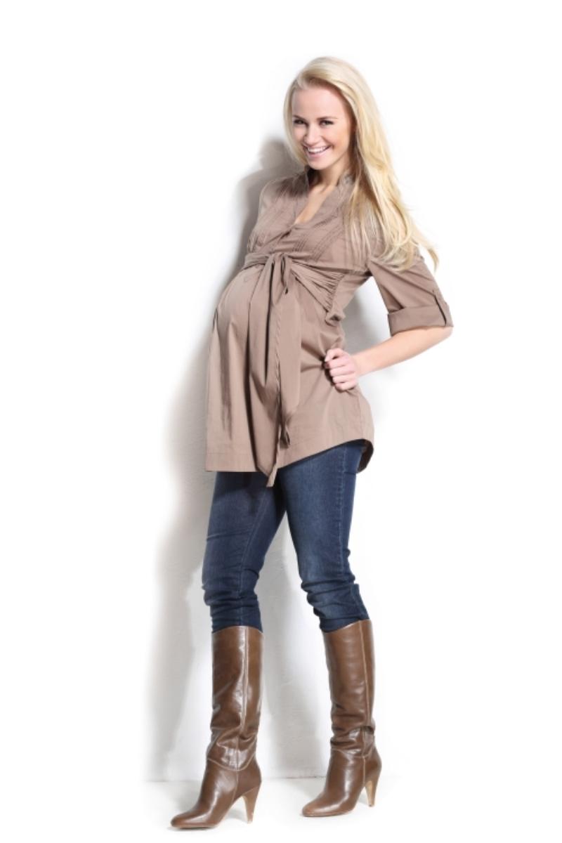 Блузка для беременных 01145 коричневый