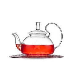 Чайник заварочный стеклянный, Георгин 650 мл