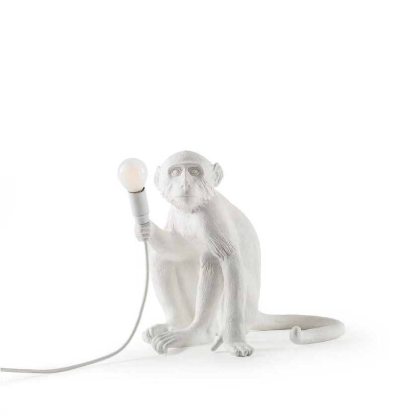 Настольный светильник копия Monkey by Seletti (белый)