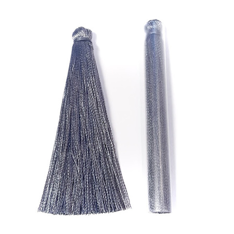 Кисточка 6,5 см, тонкая цвет темно-серый