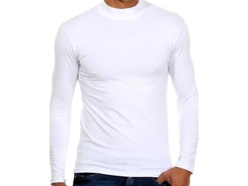Мужская футболка с длинным рукавом  белая Doreanse 2930