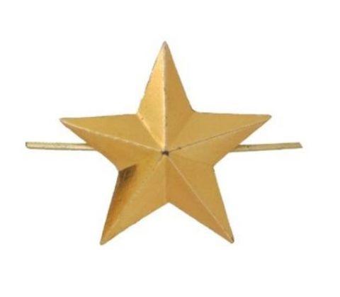 Звезда на погоны мет. 16 мм зол. (РЖД)