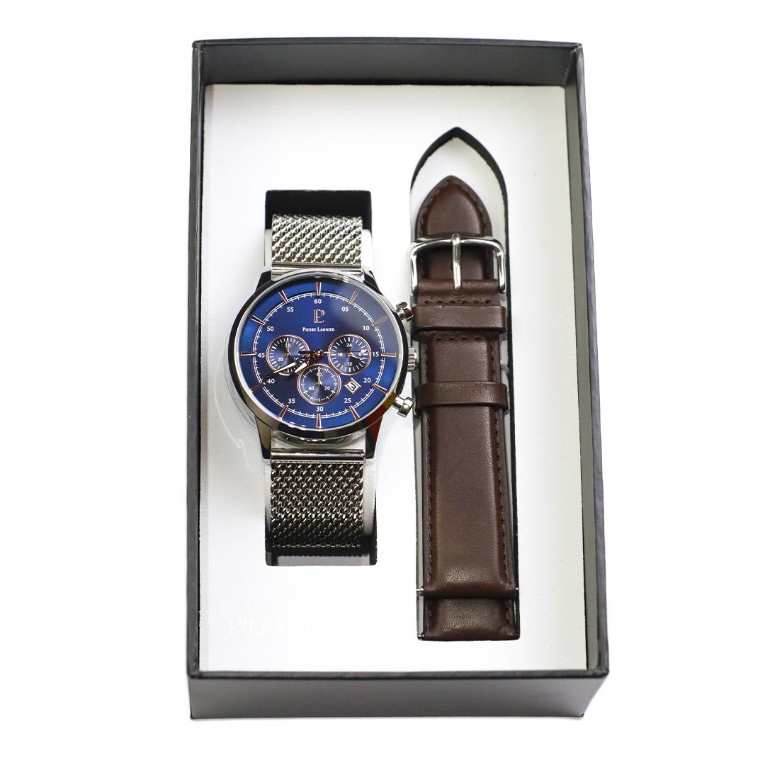 Мужские часы Pierre Lannier CAPITAL + ремешок 444A169