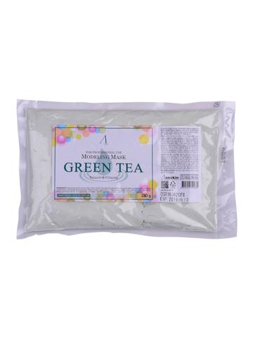 Anskin Grean Tea Modeling Mask маска альгинатная успокаивающая и антиоксидантная с зеленым чаем (пакет)