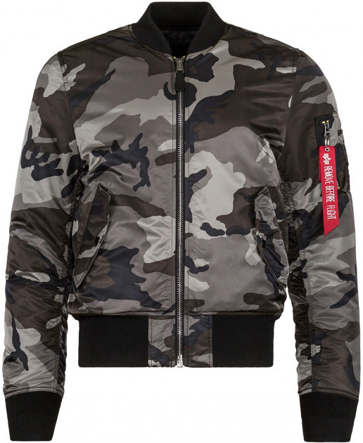 Куртка бомбер Alpha Industries MA-1 Slim Fit Tonal Black Camo