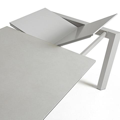 Стол Atta160 (220) x90 серый керамика
