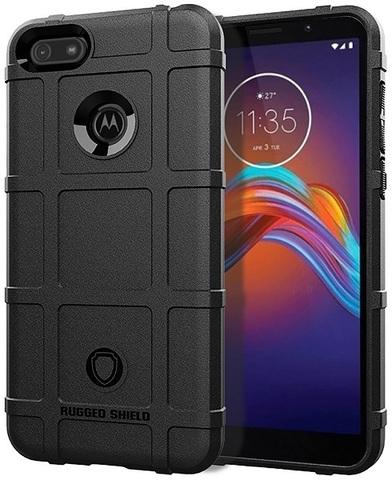 Чехол для Motorola Moto E6 play цвет Black (черный), серия Armor от Caseport