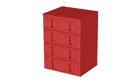 Красный комод Лондон