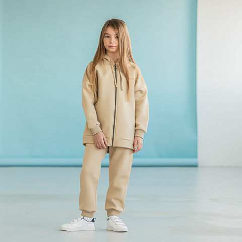 Warm hoodie for teens - Safari