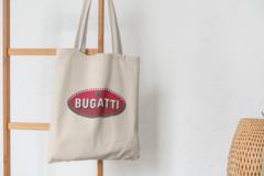 Сумка-шоппер с принтом Bugatti (Бугатти) бежевая 002