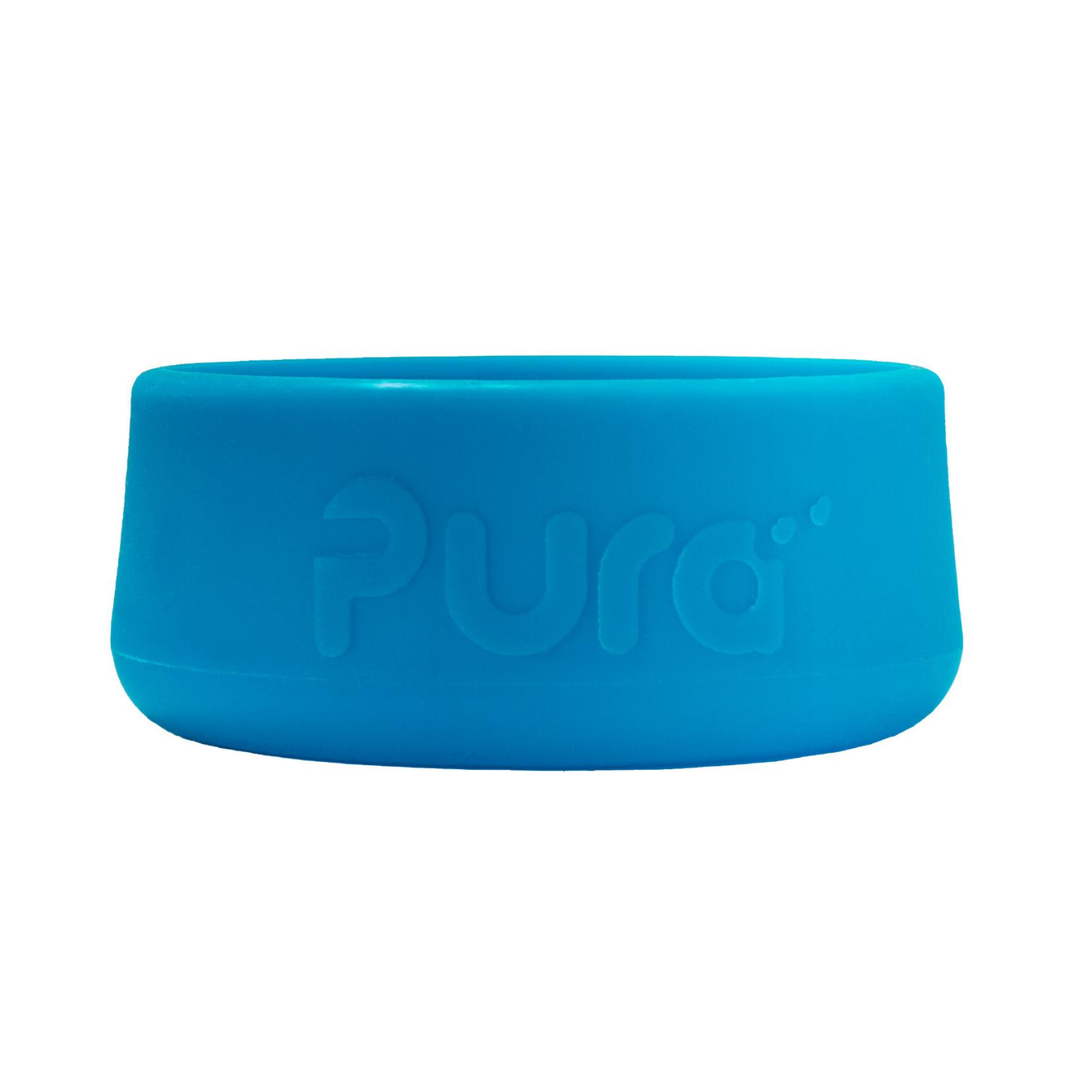 Силиконовый бампер для бутылок Pura Kiki голубой