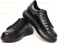 Модные кроссовки женские на платформе EVA collection 0721 All Black.