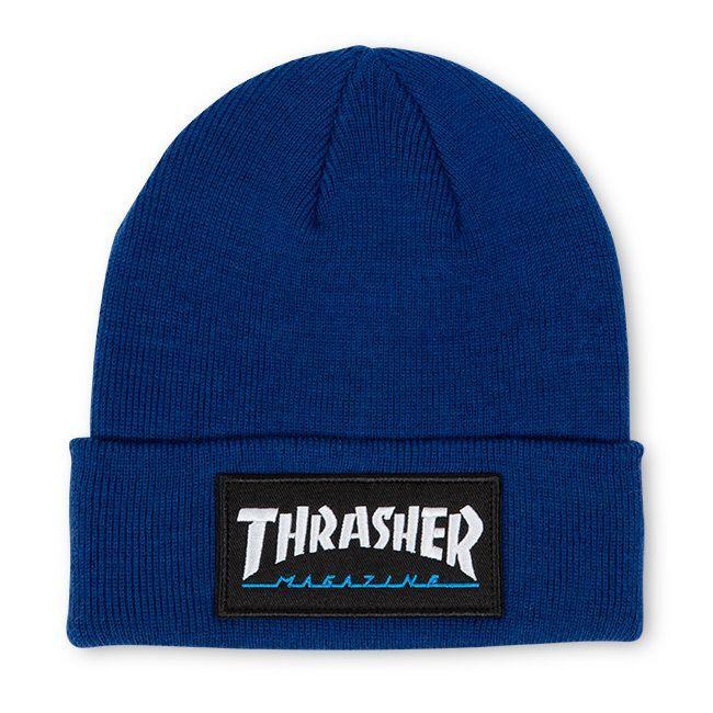 Шапка THRASHER Logo Patch Beanie (Navy)