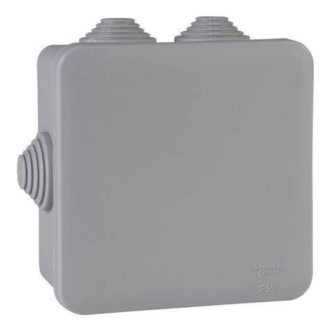 Монтажная коробка. Цвет Серый. Schneider Electric(Шнайдер электрик). Mureva styl(Мурева стайл). IMT35337