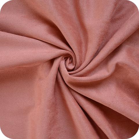 Искусственная замша, двухсторонняя, цвет: пыльно-лососевый