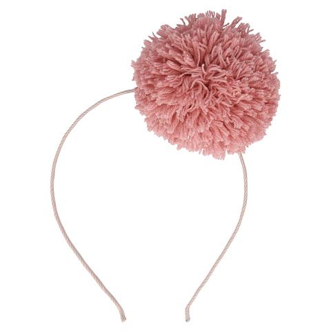 Ободок Розовый Помпон