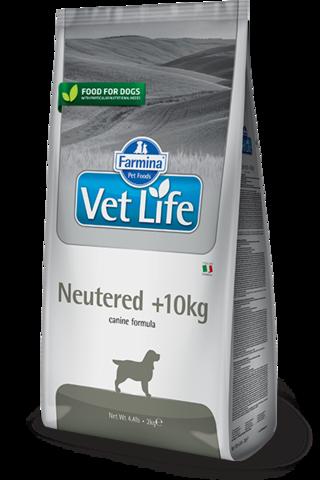 Корм для стерилизованных собак Farmina Vet Life Neutered +10kg для профилактики МКБ, при избыточном весе 12 кг