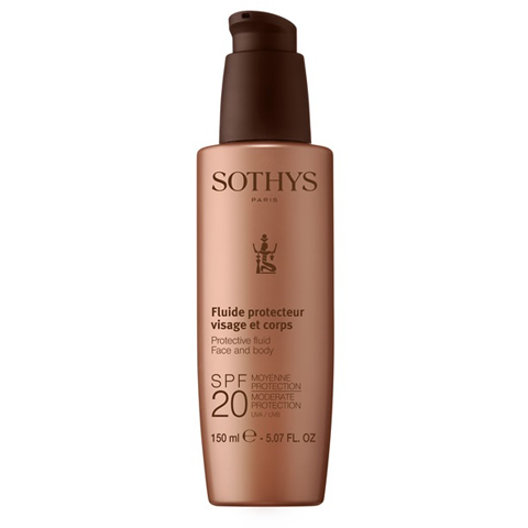 Sothys Protecting Sun Care: Молочко с SPF20 для лица и тела (Protective Fluid Face And Body SPF20 Moderate Protection UVA/UVB)