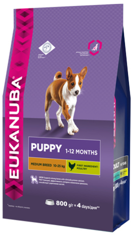 Сухой корм Eukanuba Puppy Medium Breed