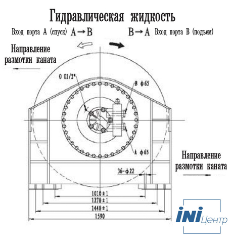 Стандартная лебедка IYJ79-500-261-52-ZP