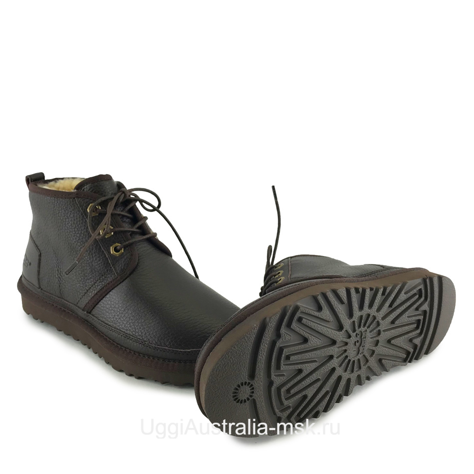 UGG Womens Neumel Leather Chocolate
