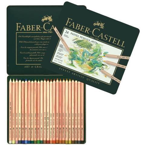 Карандаши пастельныеFaber-Castell Pitt 24 цвета (металлическая коробка)