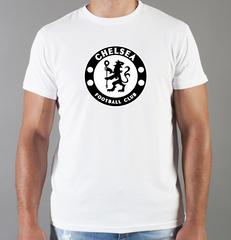 Футболка с принтом FC Chelsea (ФК Челси) белая 009