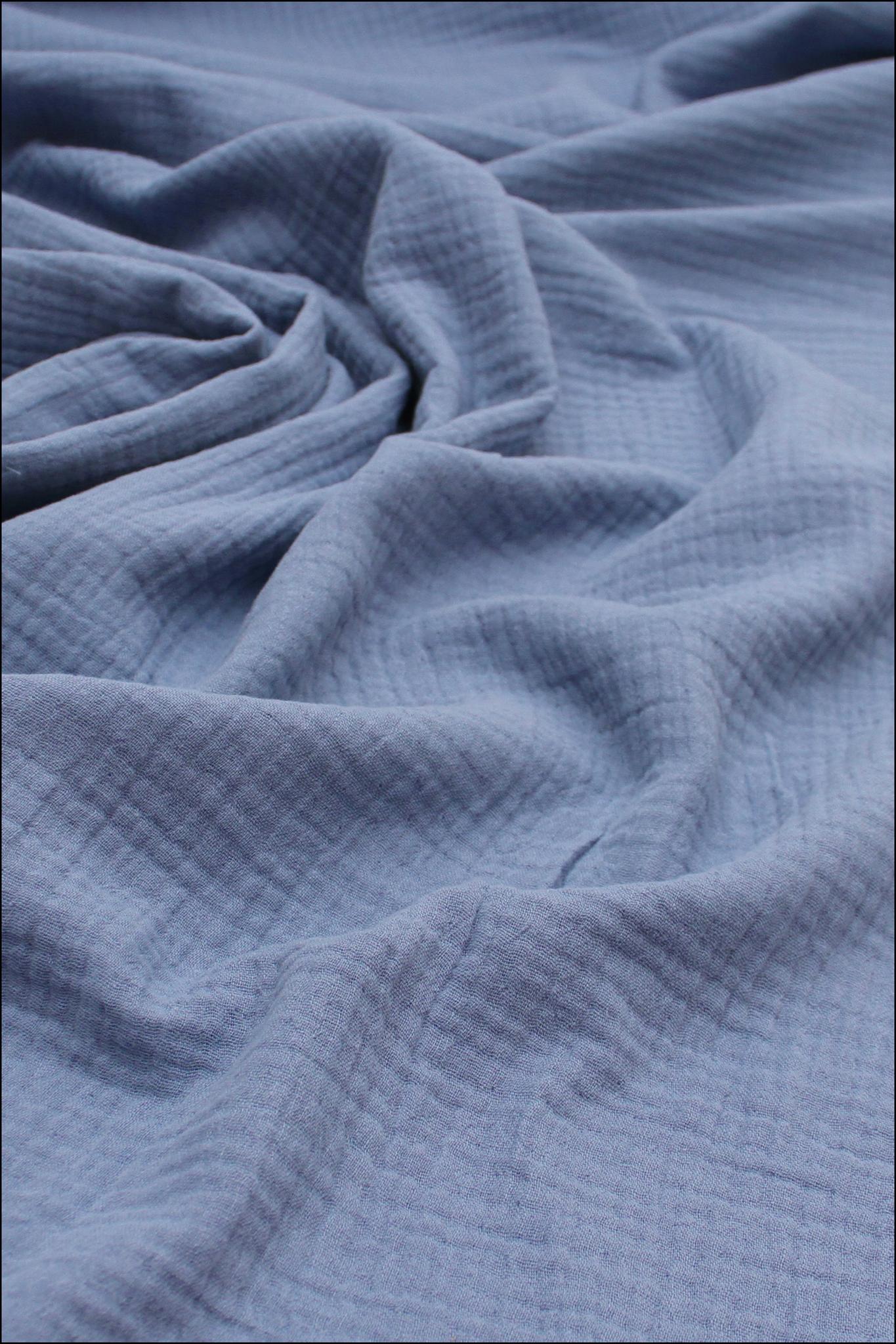 Ткань муслиновая, голубика