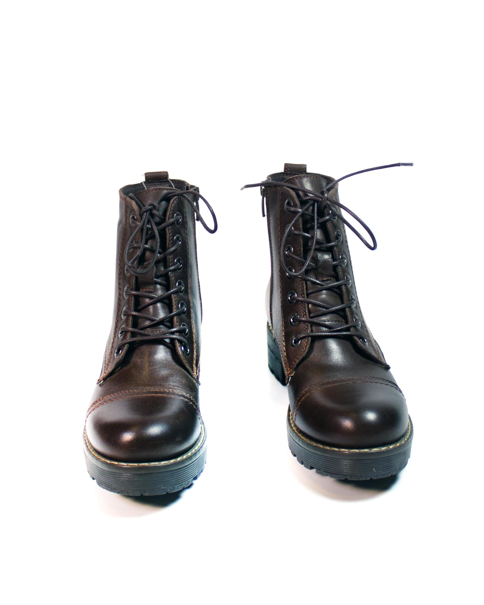 коричневые ботинки Donna Ricco