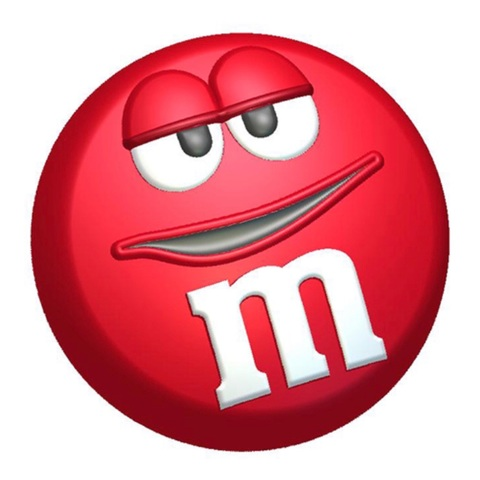 Пластиковая форма для шоколада дет. M&Ms КРУГЛЫЙ (диаметр 75мм)