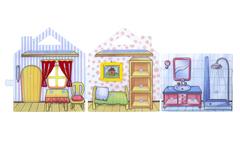 Развивающая игра из фетра Мишкин домик, Smile Decor